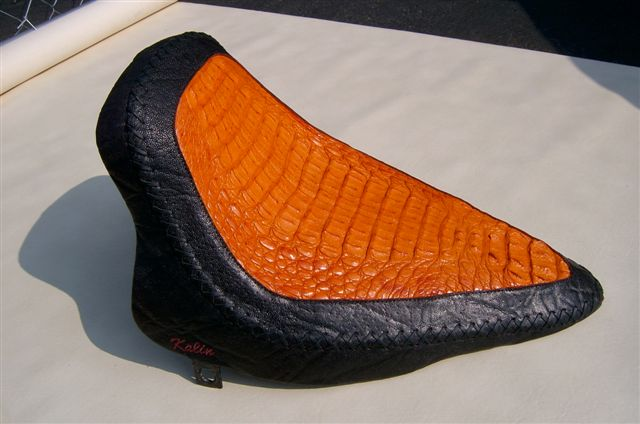 Orange Crocodile and Elephant Laced